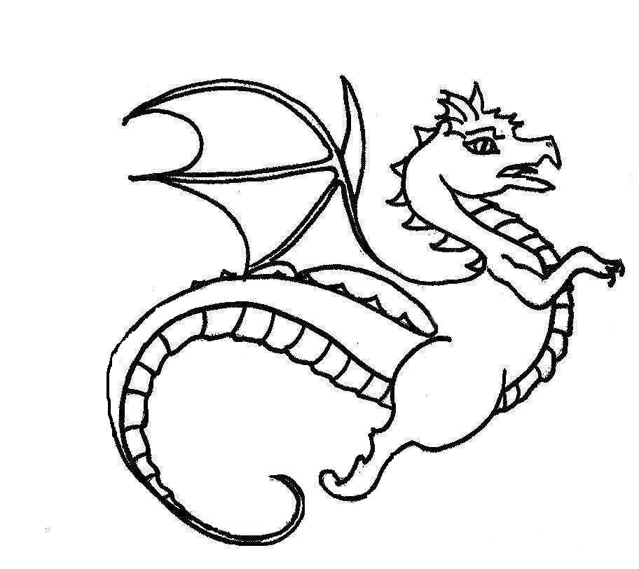 Dragon Coloring Pages For Toddlers Coloring Coloring Pages
